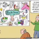 Sketchnotes Blockchain Workshop Digitalisierung Cartoon