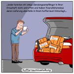Kofferraumzustellung Cartoon