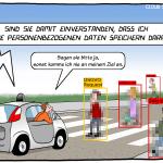 DSGVO VS. KI Objekterkennung Cartoon