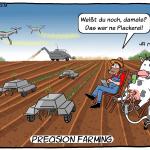Precision Farming Cartoon Digitalisierung
