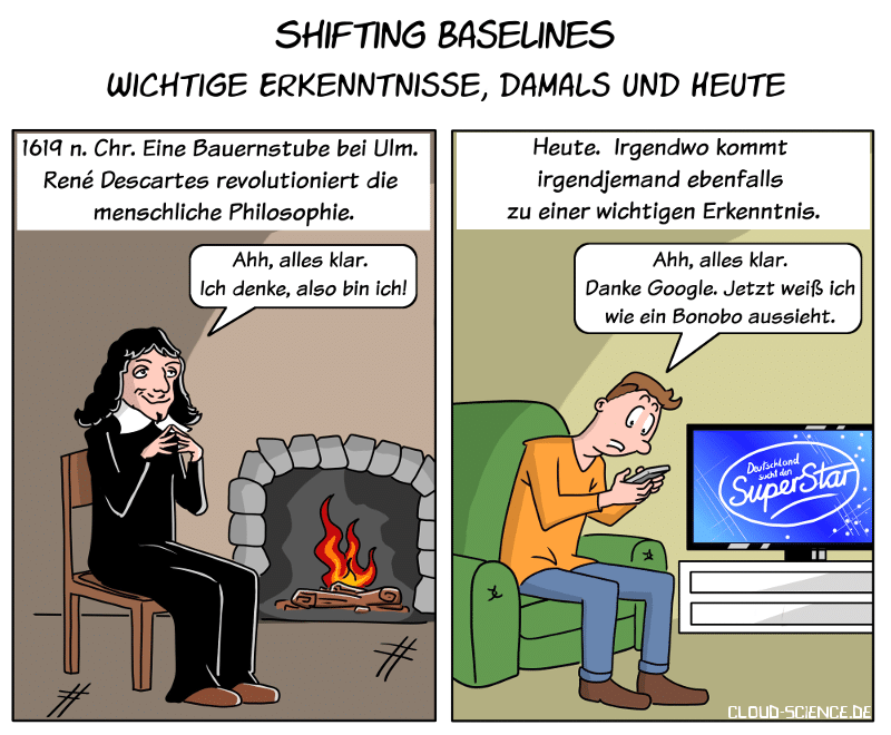 Shifting Baselines. Descarttes Vs. Google