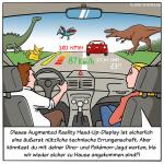 HUD-Display mit AR Cartoon
