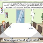 Neuer Job per Chatbot Cartoon