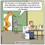 menschenquote Arbeitswelt Digitalisierung Cartoon