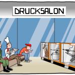 3D-Drucker Drucksalon Cartoon