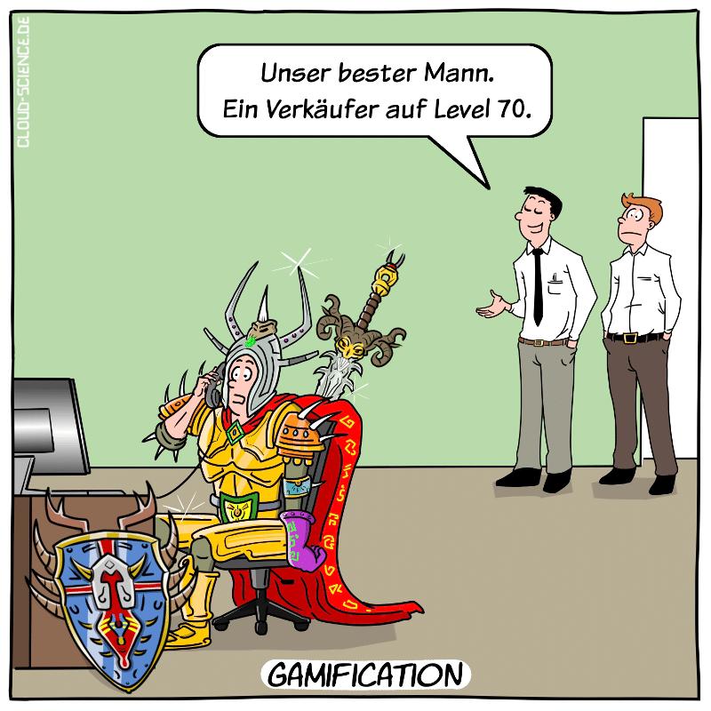 Gamification Cartoon