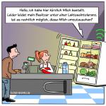 Smart Home Kühlschrank Bestellung Recht Cartoon