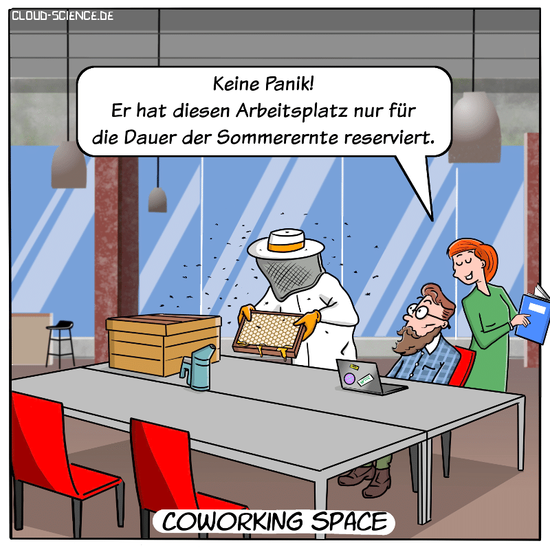 Coworking Space Cartoon