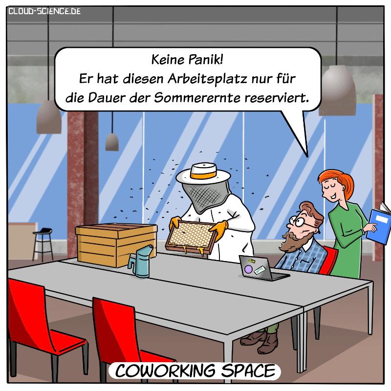Coworking Space Cartoon