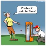 Golf 3D-Druck Sport Cartoon