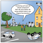 Carsharing Free-Floating Cartoon