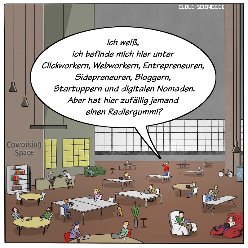Coworking Space Cartoon 2