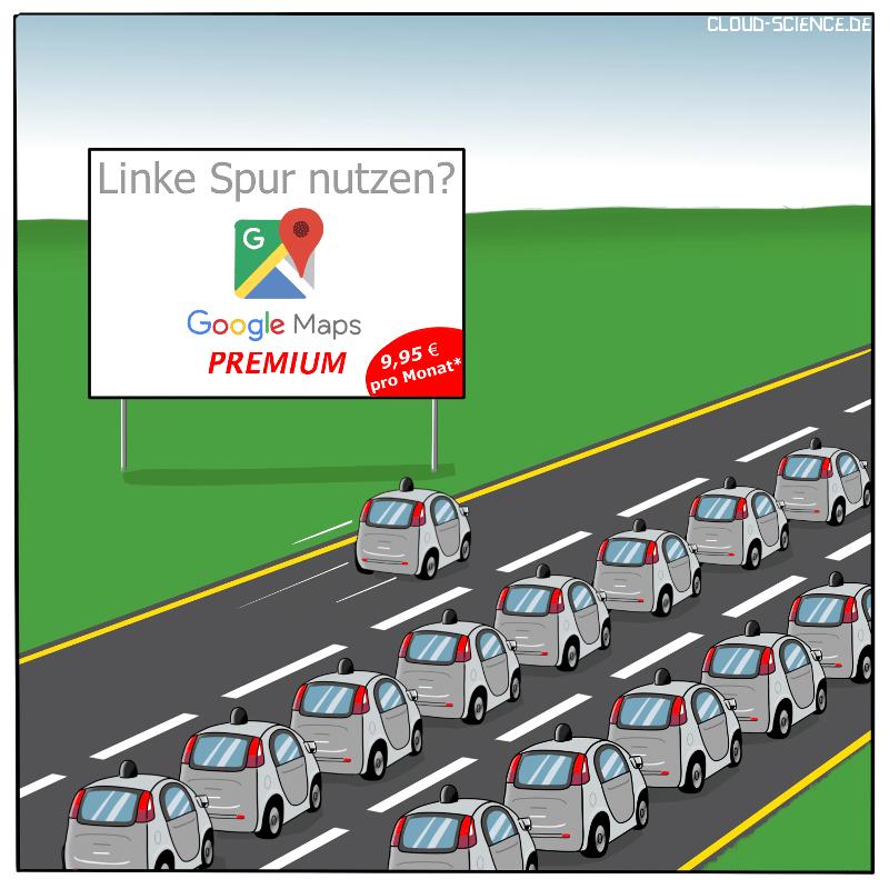 Digitale Kartenanbieter Google Maps Maze Here Autonomes Fahren Premium Service
