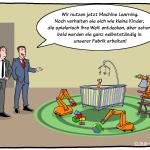 Machine Learning maschinelles lernen Industrie-Roboter KUKA lernen Cartoon