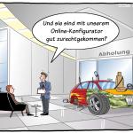 Online-Konfigurator Individualismus Losgröße1 Cartoon Autoverkauf