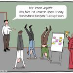 Agilität Workshop Kanban Scrum Open Friday Hour Cartoon