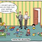 Predictive Recruiting Cartoon Fachkräftemangel Personalauswahl