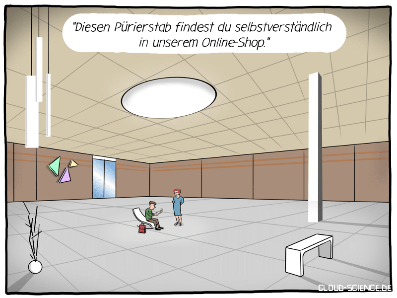 Showroom Omnichannel Cartoon