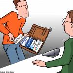 Apple Pay Online Bezahldienste Kreditkarten Bargledlos Cartoon