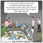Moravec-Paradocs Roboter Kantine Essen Motorische Fähigkeiten Entwicklung Cartoon Satire Technologie