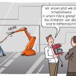 ITSecurity Cybersecurity IOT Sicherheit Cartoon Karikatur