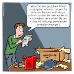 Retouren Retoure Amazon Rückgabe Cartoon