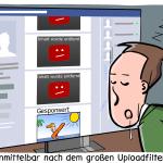 Uploadfilter Artikel13 Uploadfilter Urheberrechtsreform Cartoon Karikatur
