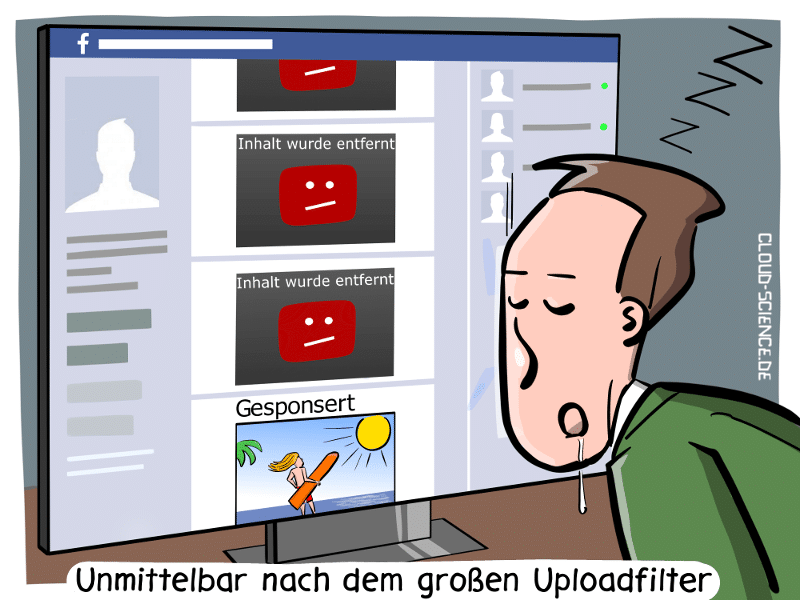 Uploadfilter Artikel13 Uploadfilter Urheberrechtsreform Cartoon Karikatur