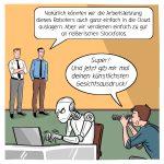 KI Künstliche Intelligenz Roboter Stockfoto Cloud Cartoon Karikatur