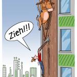 Vertical Famer Vertical Farming Zukunft Beruf Cartoon Karikatur