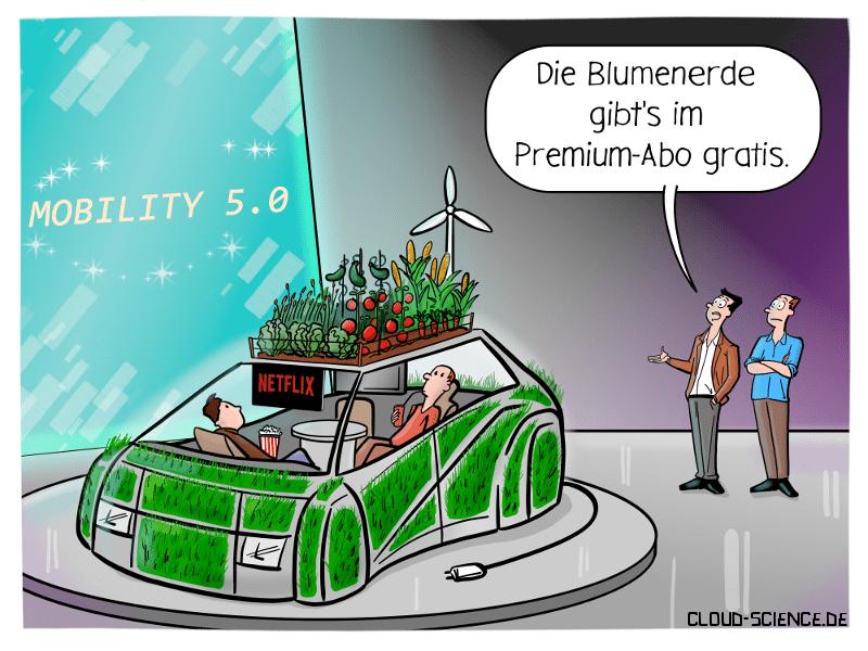 IAA Auto Mobilität Technik Cartoon Karikatur