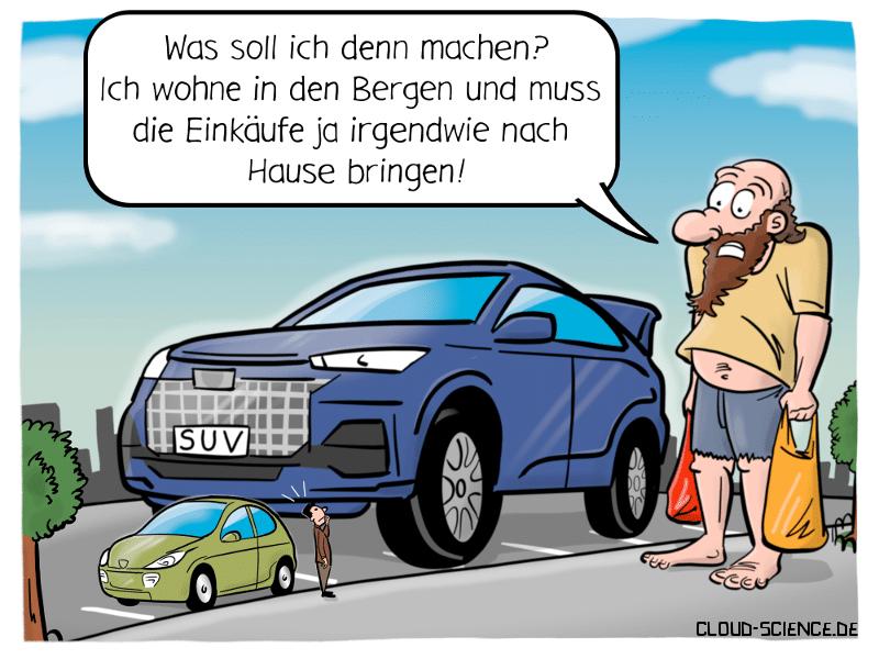 SUV SUVs Auto Cartoon Riese Humor