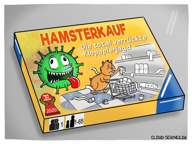 Hamsterkauf Corona Coronakrise Pandemie COVID-19 Klopapier Cartoon Illustration