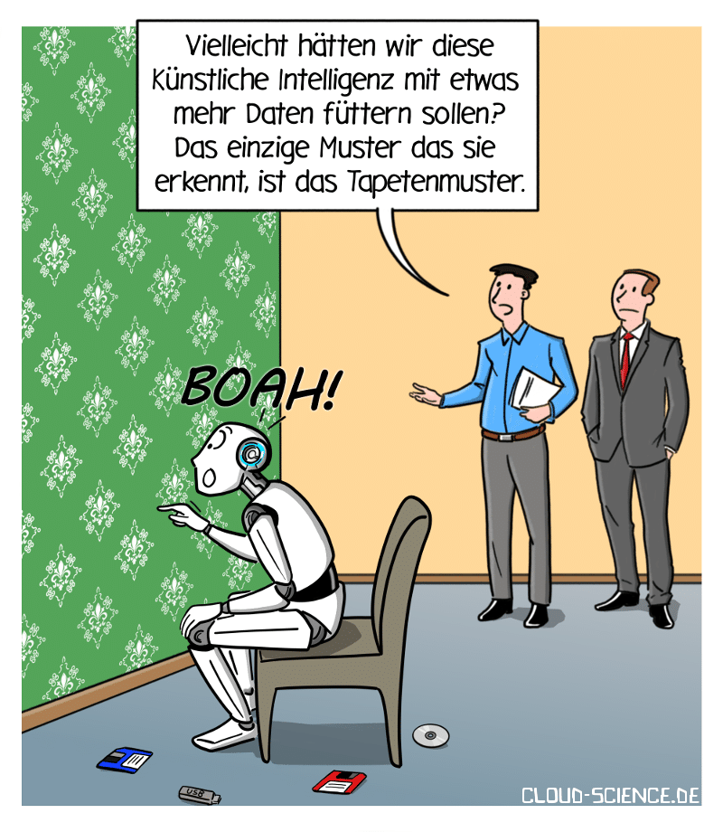 Künstliche Intelligenz KI Mustererkennung Small Data Cartoon