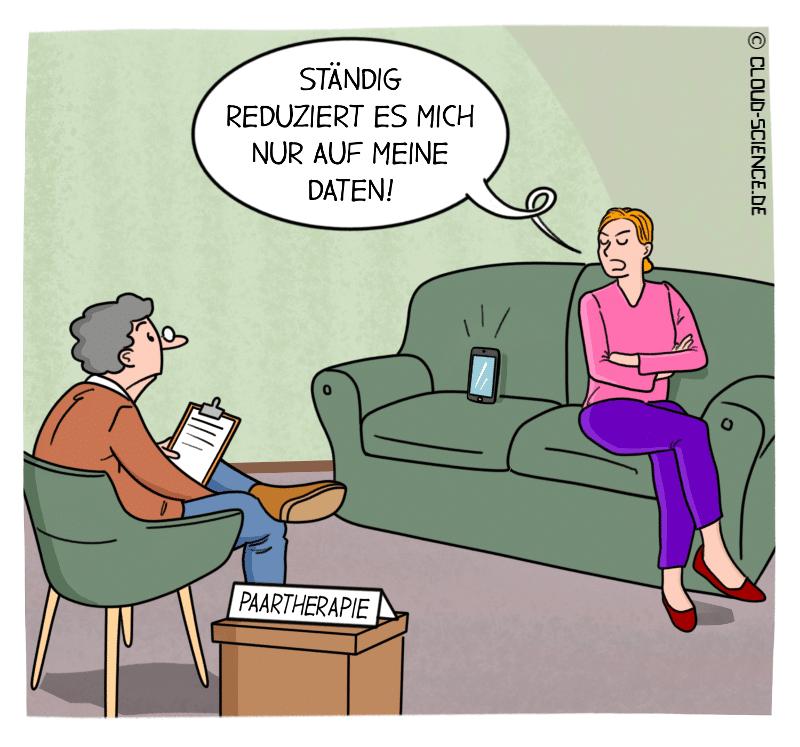 Daten Beziehungskrise Cartoon
