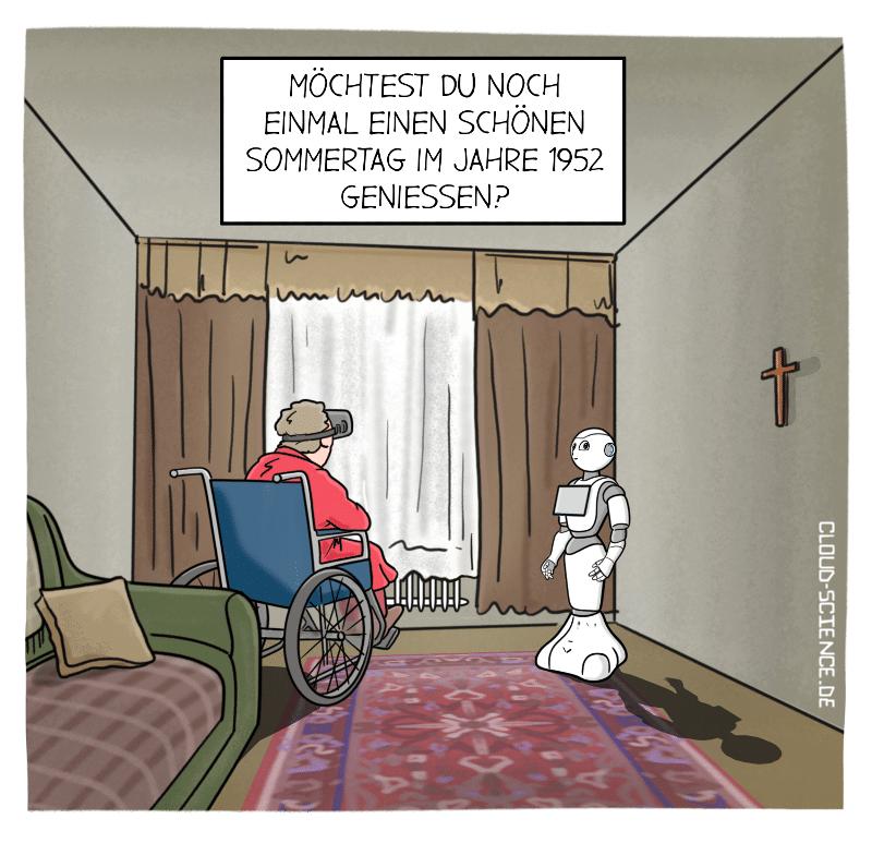 Pflege der Zukunft Pflegeroboter Pflegenotstand