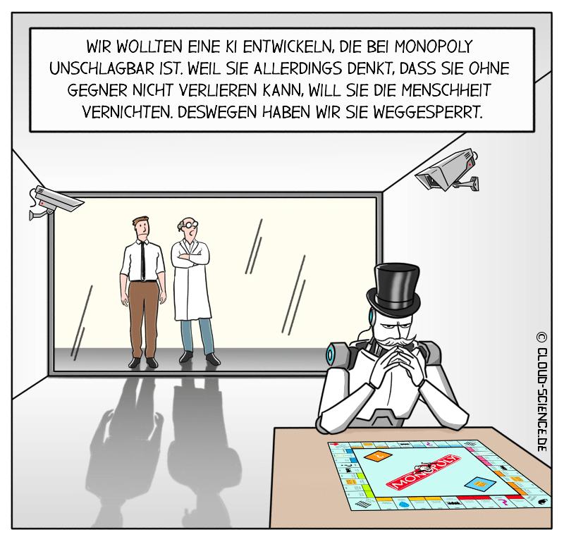 KI Künstliche Intelligenz Cartoon